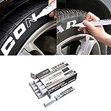 AITOCO 10 pennarelli impermeabili per pneumatici, colore bianco permanente, ottima idea per auto, moto, battistrada per pneumatici in gomma, metallo, progetti fai da te