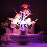 Flores Seta Decoración de dormitorio Sensación de luz LED Luz de noche Lámpara de cama Lámpara de noche Tulipán Seta Luz de noche