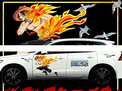 Dmxiezib Sales for sale One Piece: Portgas·D· Ace Large Stickers Anime Popular brand St Car