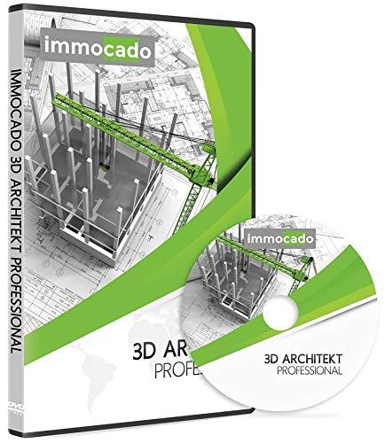 Immocado 3D Architekt Professional 2021 - 2D & 3D CAD Hausplaner Software und Architektur Programm mit Grundriss-Erstellung und Gartenplaner zur Bauplanung