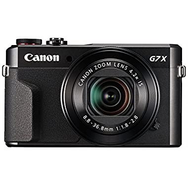 Canon PowerShot G7 X Mark II Digital Camera w/1 Inch Sensor and tilt LCD Screen - Wi-Fi & NFC Enabled (Black)