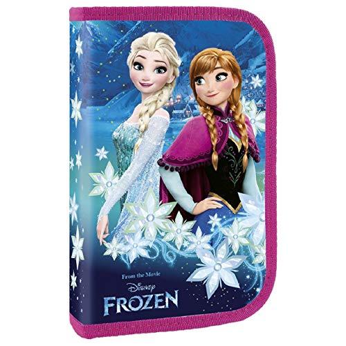 Ragusa-Trade Frozen - Die Eiskönigin Anna und ELSA, Federtasche Federmappe, leer ohne Inhalt (PDKL) für Mädchen, violett/pink, 20 x 13 x 4 cm