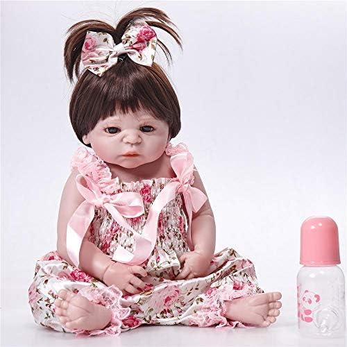 Hongge Reborn Baby Doll,Lebensechte Reborn Baby realistische Baby L Silikon Puppe Kind Geburtstag 58cm