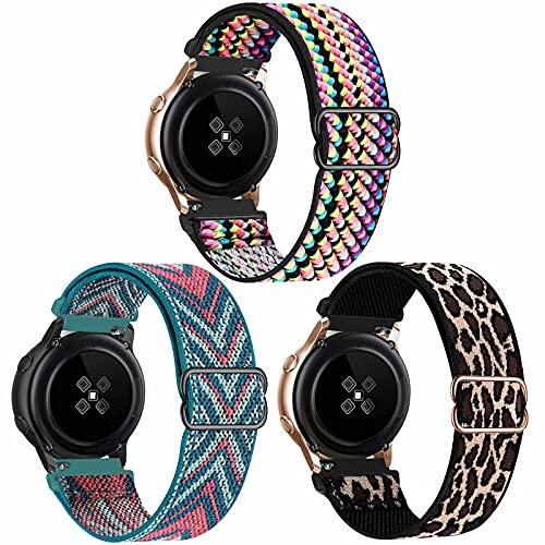SSEIHI 22mm 3pack Correa Compatible con Samsung Galaxy Watch 3(45mm/44mm)/Watch 46mm/Gear S3 Classic/Frontier,Reloj de Repuesto Deporte Strap,Pulsera Nylon Banda,Colorful/Green Arrow/Lepoard,22mm