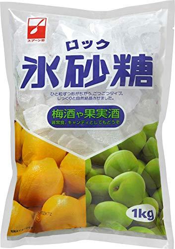 スプーン印 氷砂糖 ロック 1kg【10袋セット】梅酒・果実酒づくりに ゴツゴツとしたロックタイプ