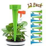 Hospaop Automatisch Bewässerung Set - 12 Stück, Pflanzen Bewässerungssystem mit Einstellbar, Pflanzen Blumen Bewässerung, Bewässerung für Topfpflanzen Passend für die meisten Flaschen