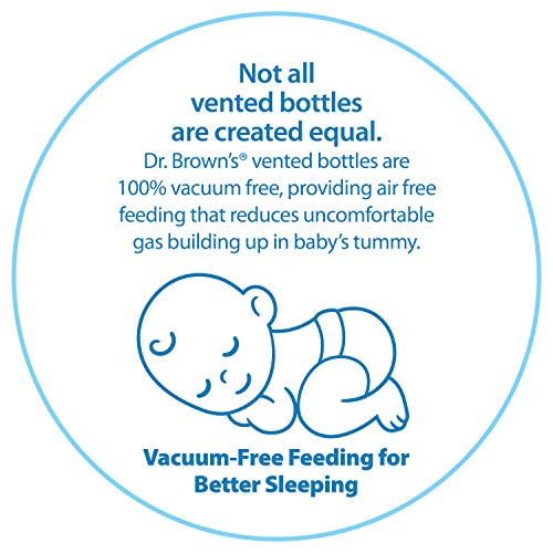 Dr. Brown's Options+ Wide-Neck Glass Baby Bottles, 5 Ounce, 3 Count