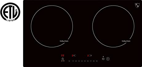 K&H Double Cooktop Burner Ceramic Induction 220V, INDH-3102Hx