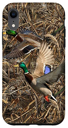 iPhone XR Duck Hunting Realtree Camouflage Fabric Case Duck Hunting Case