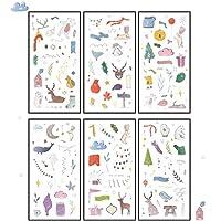 6ピース/パック新年の気持ち装飾文房具ステッカースクラップブッキングDIY日記アルバムスティックラベル