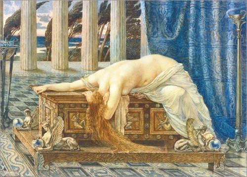Leinwandbild 70 x 50 cm: Pandora von Walter Crane - fertiges Wandbild, Bild auf Keilrahmen, Fertigbild auf echter Leinwand, Leinwanddruck