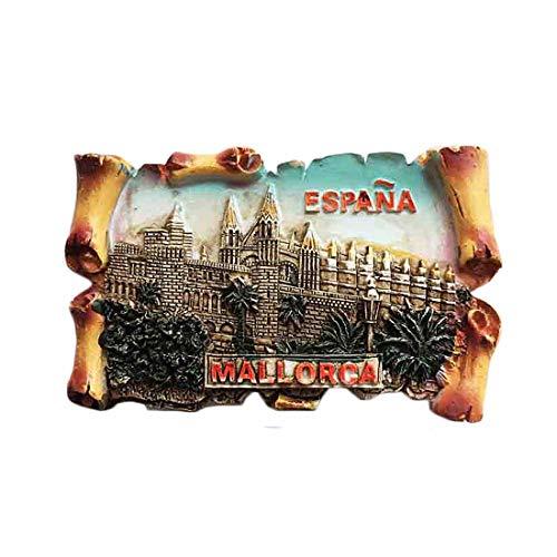 Calamita da frigorifero 3D di Palma Cathedral of Maiorca Spagna regalo regalo di viaggio souvenir decorazione casa e cucina, Mallorca Spagna frigorifero magnete