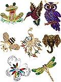 WILLBOND 8 Piezas Conjunto de Broche de Mujer Broches de Animales Coloridos Broche de Cris...