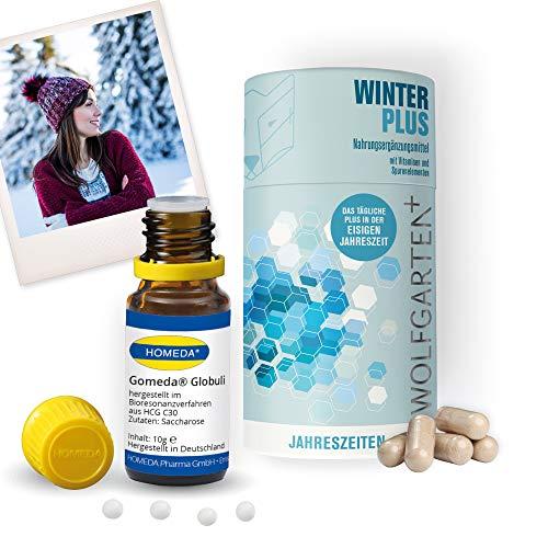 HOMEDA GOMEDA Winter Set • hCG-Globuli und Kapseln • Globuli und Nahrungsergänzungsmittel inkl. Vitaminen und Mineralstoffen für Deine 21-Tage-hCG-Kur