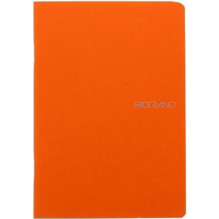 Fabriano EcoQua Notebook, Small, Staple-Bound, Blank, 38 Sheets, Orange