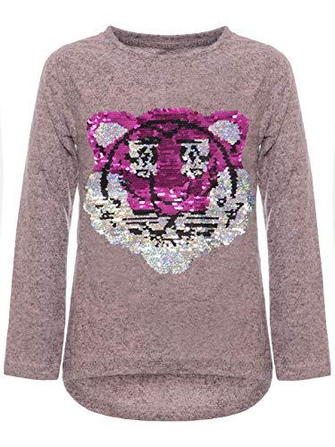 BEZLIT Kinder Mädchen Wende Pailletten Sweatshirt Pullover Pulli Langarmshirt 22905 Rosa 140
