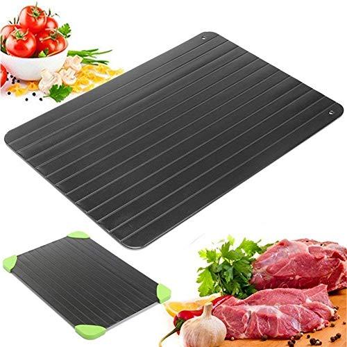 yeehao Auftauplatten Mit Tablett, Rapid defrosting Tray Auftauen Tablett ohne Elektrizität Mikrowelle auftauplatte Aluminium