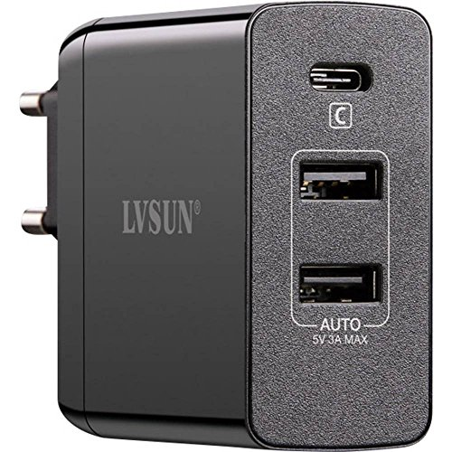 USB-Ladegerät LVSUN Travel LS-QW45-PD Steckdose Ausgangsstrom (max.) 6000mA 3 x USB, USB-C Buchs