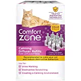 Comfort Zone Cat Calming Diffuser Refill, 48 ml-6 Pack, 180 Day Use