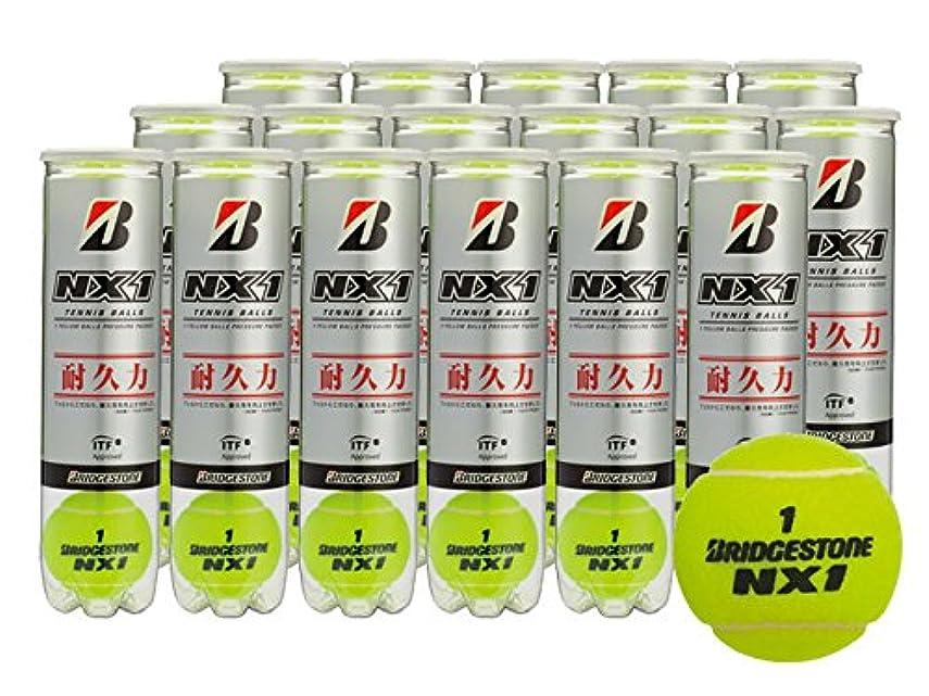 忌まわしい勧める出身地BRIDGESTONE(ブリヂストン) プレッシャーライズド テニスボール NX1(エヌエックスワン)4球入 1箱 (17缶/68球)