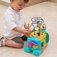 TOP BRIGHT Cubo Multiattività Bambini - Giochi in Legno per Bambini 1 Anno – Cubo Interattivo per Bimbi e Bimbe – Gioco Educativo – Ottima Idea Regalo Bambini #1