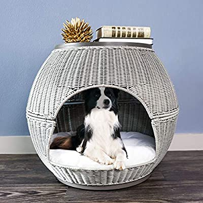The Refined Canine's Igloo Deluxe Pet Bed (Smoke)