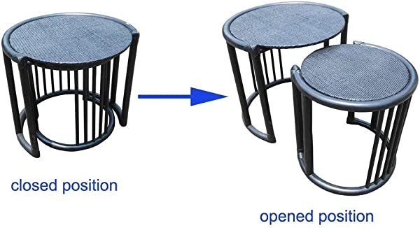D Art Collection Rattan 2 Piece Nesting Tables