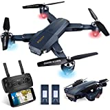 Kuorle WiFi FPV Drone with Camera, Foldable RC Quadcopter Helicopter with 720P HD