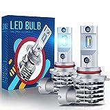 H10 LED Fog Light Bulb, CAR WORK BOX 9145/9040/9140 Fog Lamp 6000LM Extremely Bright 1860 Chips, Xenon White 6000K (Pack of 2)