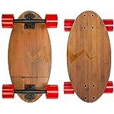 Eggboards Mini Longboard The Original - Bamboo Wood Cruiser...