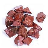 WUBBHIN Cristal áspero Jaspe Rojo Piedras ásperas Cranas de Cuarzo Cristal de Piedras Preciosas para la decoración del Acuario del Tanque de Pescado Piedra casera (Size : 500g)