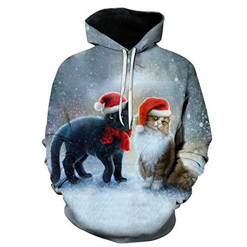 Mr.BaoLong&Miss.GO Otoño E Invierno Suéter De Los Hombres Pulóver Suéter De Pareja De Navidad Sudadera con Capucha Camiseta Camisa De Fondo