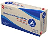Dynarex Nitrile Exam Glove (Non-Latex) Powder Free L, Blue 10/100/Cs