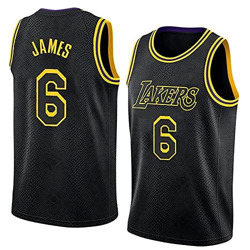 XGYD James Jerseys # 6 Chaleco de Baloncesto para Hombres, 2022 Camisas de edición de la Ciudad sin Mangas Cosidas, 90s Ropa de Hip Hop para Jersey Party (S-XXL) Black-XXL