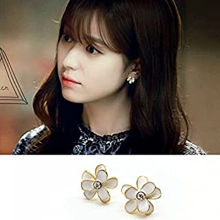 c80019ac92c TKHNE Two Worlds s925 silver stud earrings Jong-suk Han Hyo-joo same  paragraph
