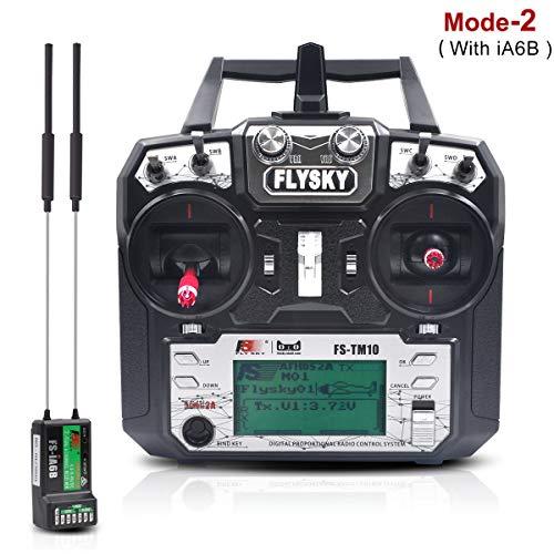 LITEBEE Flysky 10CH RC Sender Controller TM10 mit iA6B Empfänger - Upgrade von FS i6X, sowohl für RC Drone als Auch RC Boat Car