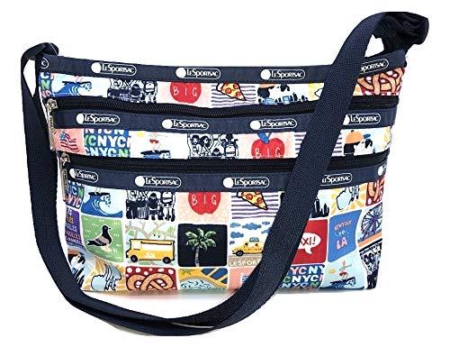 LeSportsac NY to LA Quinn Crossbody Handbag, Style 3352/Color K602 (New York to Los Angeles, Exclusive)