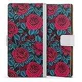 DeinDesign Étui Compatible avec Sony Xperia L1 Étui Folio Étui magnétique Roses Floraison Nature