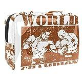 Bolsa de cosméticos para Mujeres Campeón del Mundo del Boxeo Bolsas de Maquillaje espaciosas Neceser de Viaje Organizador de Accesorios