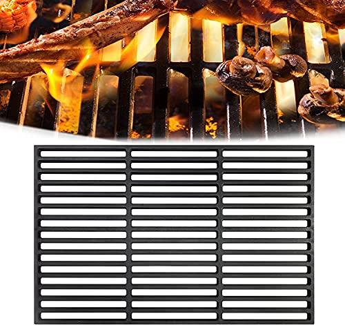NAIZY Parrilla de hierro fundido para barbacoa, parrilla de carbón vegetal, parrilla de gas, parrilla esmaltada, accesorios para barbacoa, 60 x 40 cm