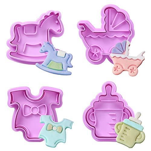 Diealles Shine Formine per Biscotti Plastica, Set di 4 Formine Biscotti Plastica Set per Biscotti