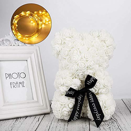 WLGREATSP Teddybär Rose Bär Forever Künstliche Rose Form Jubiläum Weihnachten Hochzeit Home Decoration