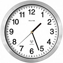Wolf Time Classic Office Radio Controlled MSF (UK) Signal Wall Clock