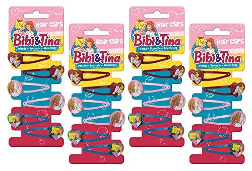 Craze 12970 Haarspangen Megaset Haarschmuck für Kinder BIBI und Tina Haar Accessoires 24 Spangen Hair Clips