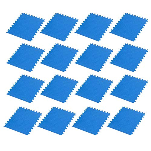 Matetas de ejercicios de espuma Esteras de pisos de gimnasios Azulejos de piso entrelazados, estera de ejercicios de rompecabezas, para el hogar Gimnasio Entrenamiento Ejercicio Fitness,Azul