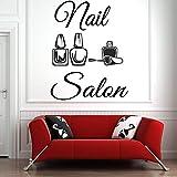 Tianpengyuanshuai Salon de beauté Stickers muraux Salon de manucure Vernis à Ongles Stickers muraux Motif Salon de Coiffure Amovible étanche 42x53cm