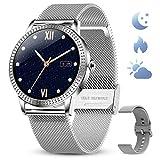 GOKOO Relojs Inteligente Mujer Smartwatch Deportivo Fitness Monitores Actividad Pulsera Actividad Inteligente Pantalla Táctil Impermeable IP67...