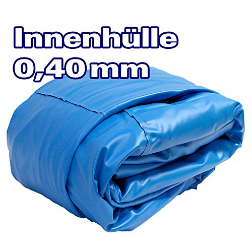 POOL Total Innenhülle Rundpool Ø 3,50 x 0,90 m überlappend | Stärke 0,40mm blau