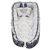Cuna para bebé recién nacido de 0 a 24 meses de algodón elástico,...