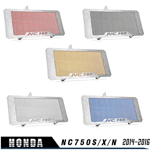 NC750S NC750X NC750N Accesorios Protector del radiador Protector Rejilla Cubierta de la parrilla para 2014 2015 2016 H-o-n-d-a NC 750S NC 750X NC 750N NC 750 S NC 750 X NC 750 N (Plata)